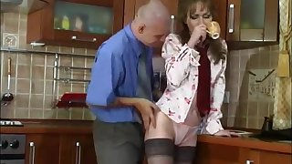 Sexy Russian Mature Fucks Young Guy In Kitchen