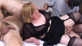 Fat mature homemade orgy