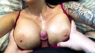 MILF Porn Stars with Big Boobs Get A Hot Titjob