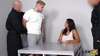 Brutal guy fucks super juggy babe Chloe Lamour in front of her cuckold boyfriend