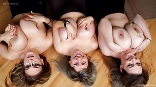 Busty Ladies Are Playing With Their Milk Jugs, In Front Of The Camera, Just For Fun