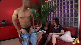 Black dude whips out his tool for Kaicee Marie and Katie Raymond
