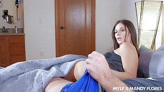 A MILF getting poked by her BF's boner and he really seems to want sex