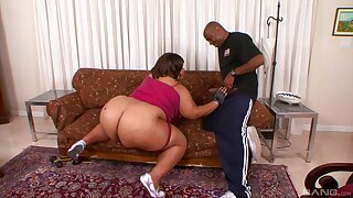 Full anal for the BBW in the end of a nasty blowjob tryout
