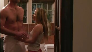 Petite blonde Lilly Lit is making love with big man with mustaches Charles Dera