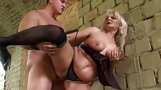 Arousing Granny Analised Steadfast Lovemaking Outdoo - outdoor