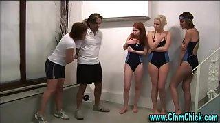 Bathing Suit cfnm british beotches predominate