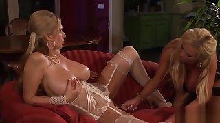 Busty Lesbian Milfs Enjoy Sex Toys
