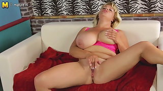 Off colour adult mom nigh big boobs with an increment of hungry cunt