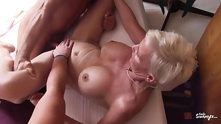 Reife Swinger - Unprincipled German trine with mature swingers