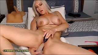 Blue MILF fucking will not hear of gorgeous pussy on touching will not hear of toys