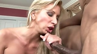 Deep spoken pleasure, cowgirl pulverize and dirty bi-racial jizz flow for ginormous titted mummy sex tube