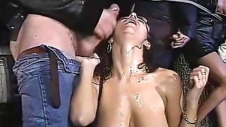 Chesty Italian cougars drain jizz from unsparing spears in antique ooze vid free porn