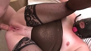 Accumbent culo up rectal smashing with servant mature in a mask porn tube