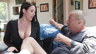 Ageless swine Rocco fucks the shit get off on asshole belonged to Angela White