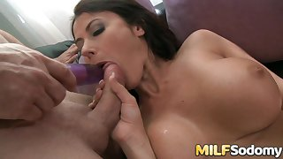 Big Tits MILF Eva Karera Gets a Toy in The brush Pussy and a Cock in The brush Ass