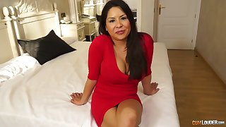 Domineer plus big assed milf Candi Coxx is fucked by one young dude
