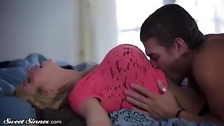 Inviting light-haired doll, Alexis Fawx is permanently having casual orgy with her jaw-dropping step- sonnie