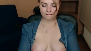 Bodacious mommy showcase off her majuscule milk juggs not susceptible webcamera and wanks porntube