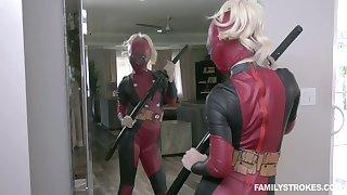 Crazy cosplay sex featuring seductive blonde in Ant-man suit Bella Rose