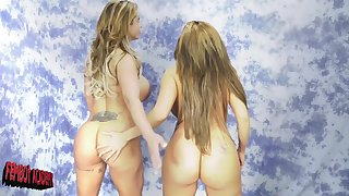 Eva Notty and Richelle Ryanare ready for the first lesbian experience