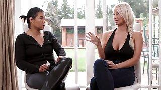Dana Vespoli interviews her MILF colleague about her job as a pornstar