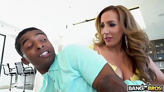 Richelle Ryan is super horny and needs a rough fuck from a younger, black dude