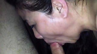 Cum through nose of chinese milf