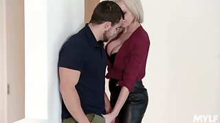 MILF craves for sex at the office and it's the new guy who's gonna fuck her